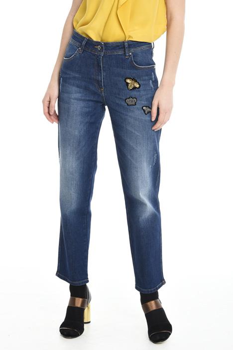 Jeans con ricami applicati Diffusione Tessile
