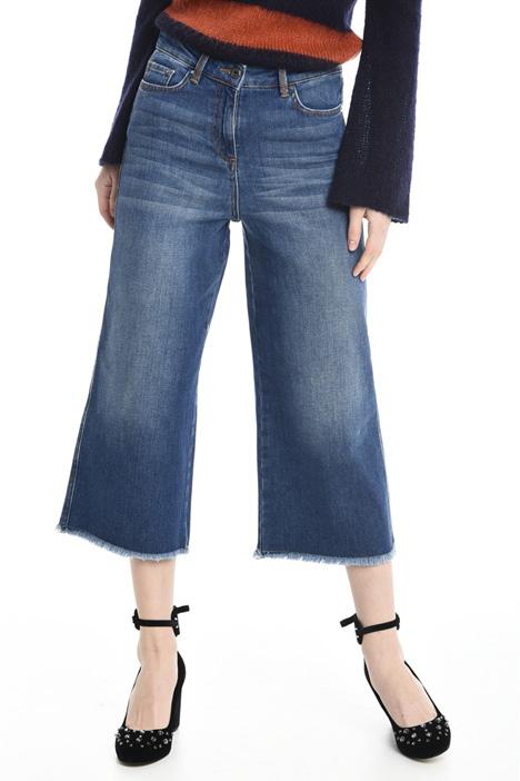 Jeans cropped sfrangiati Diffusione Tessile