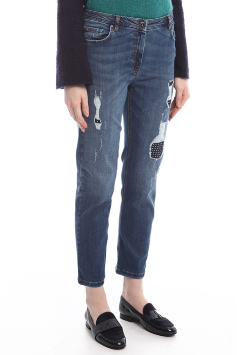 Jeans with inserts Diffusione Tessile