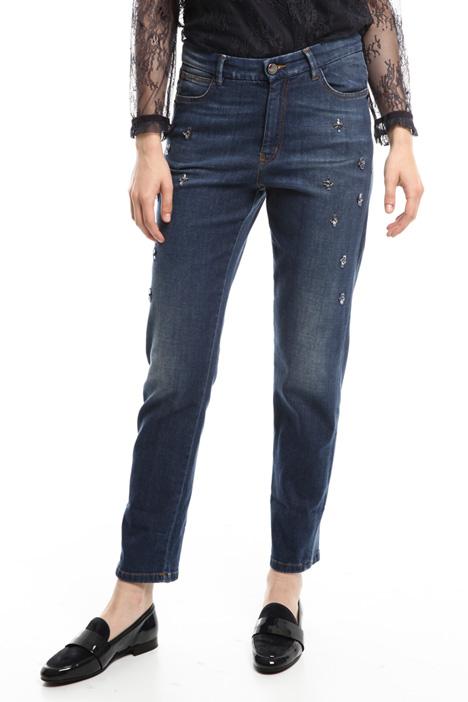Jeans con ricami bijoux Diffusione Tessile