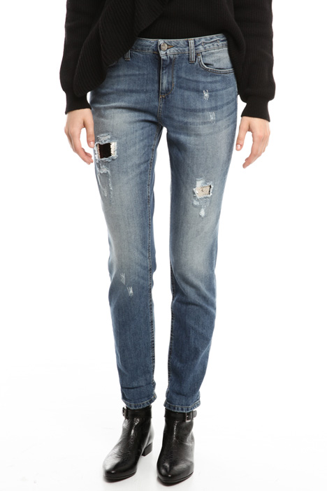 Jeans con ricami paillettes Diffusione Tessile