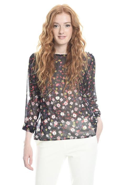 Semi-sheer printed blouse Diffusione Tessile