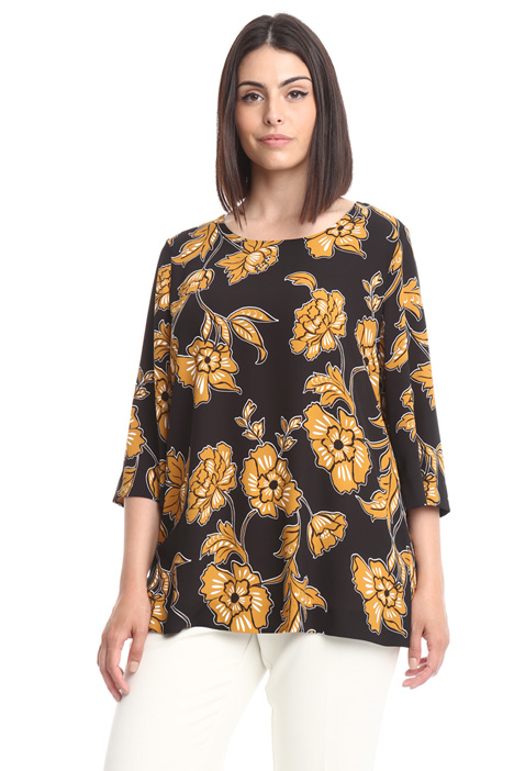 Floral patterned shirt Diffusione Tessile