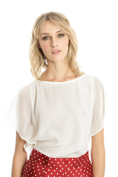 Top in crepe de chine Diffusione Tessile