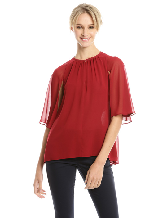 Boxy fit georgette blouse Diffusione Tessile