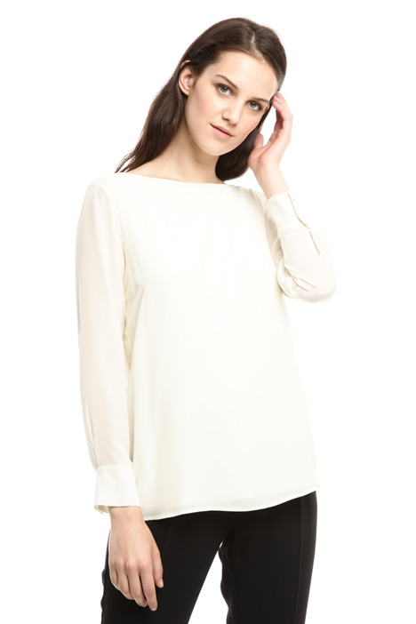 Jersey and crepe blouse Diffusione Tessile