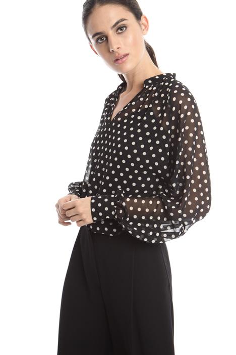 Puff-sleeve blouse Diffusione Tessile