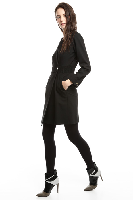 Wool-blend wrap dress Diffusione Tessile