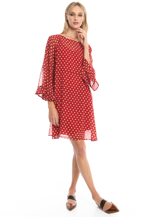 Printed georgette dress Diffusione Tessile