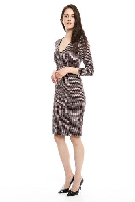 Jacquard jersey sheath dress Diffusione Tessile