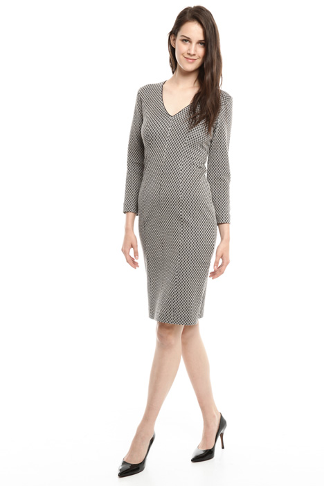 Jacquard jersey sheath dress Intrend
