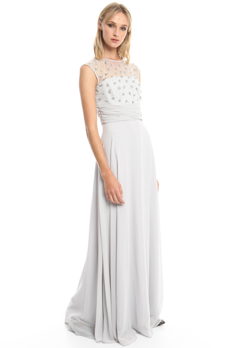 Long dress with jewel accents Intrend