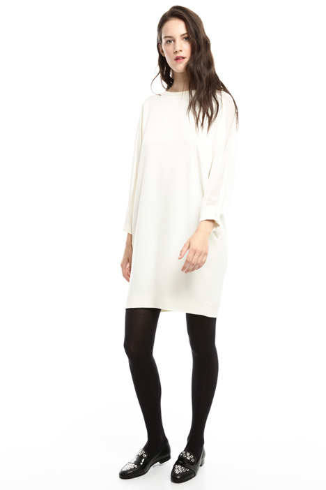 Sack-like dress in crepe Intrend