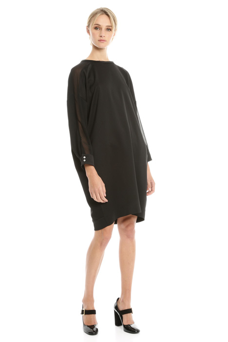 Sack-like dress in crepe Diffusione Tessile