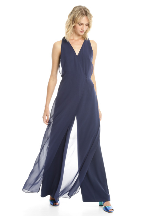 Jumpsuit with georgette panels Diffusione Tessile