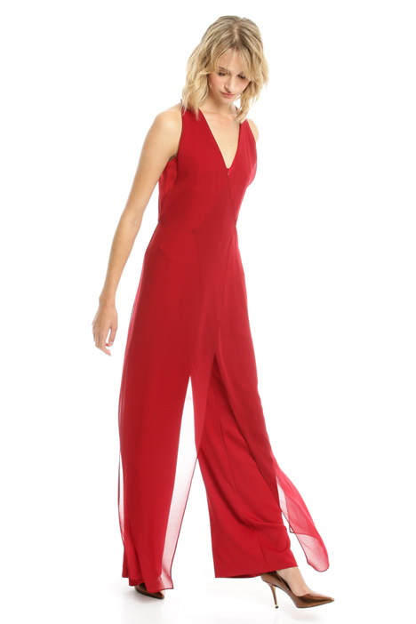 Jumpsuit with georgette panels Intrend