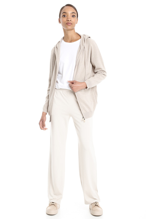 Cashmere cardigan with zip Diffusione Tessile
