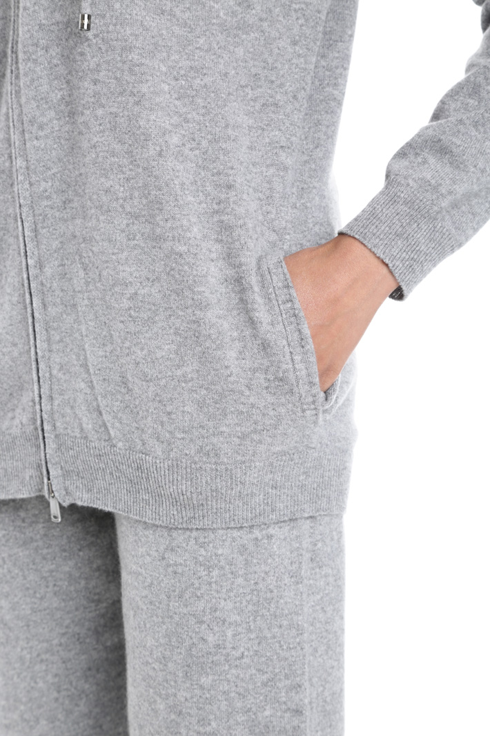 Cardigan con zip in cashmere Diffusione Tessile