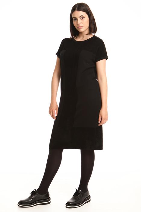 Wool blend kimono sleeve dress Diffusione Tessile