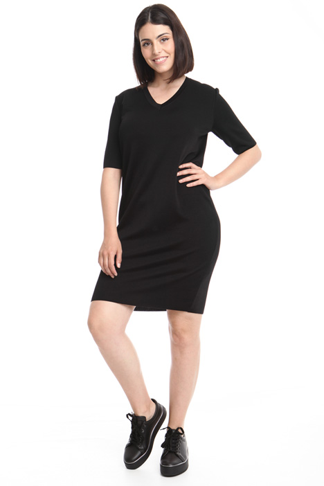 Egg-shape viscose dress Diffusione Tessile