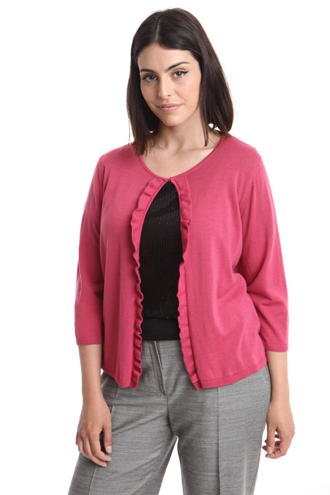 Pure wool cardigan with hooks Intrend