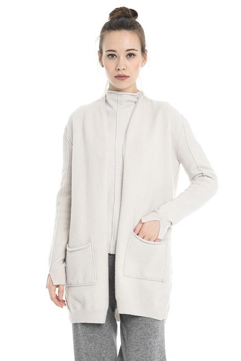Cardigan pesante in lana Diffusione Tessile