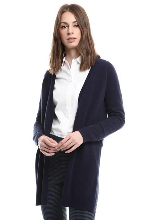 Asymmetric wool cardigan Diffusione Tessile