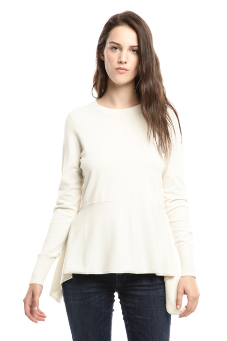 Asymmetric viscose sweater Intrend
