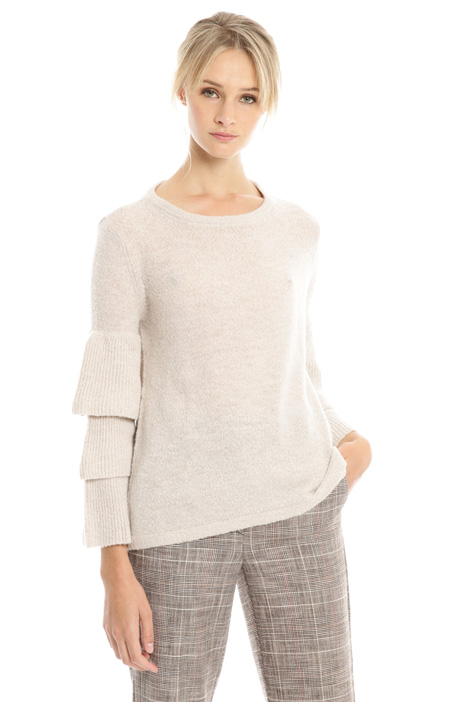 Flounce sleeves sweater Diffusione Tessile