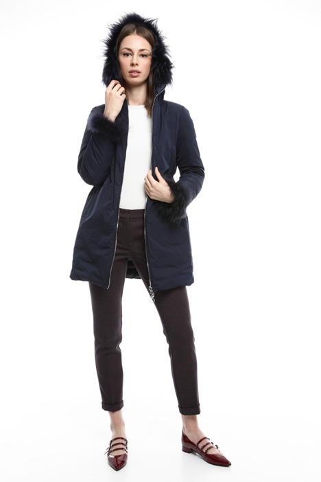Fur-trimmed down coat Diffusione Tessile