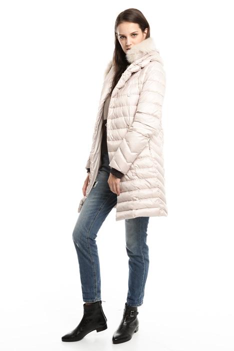 Fur-trimmed down coat Diffusione Tessile