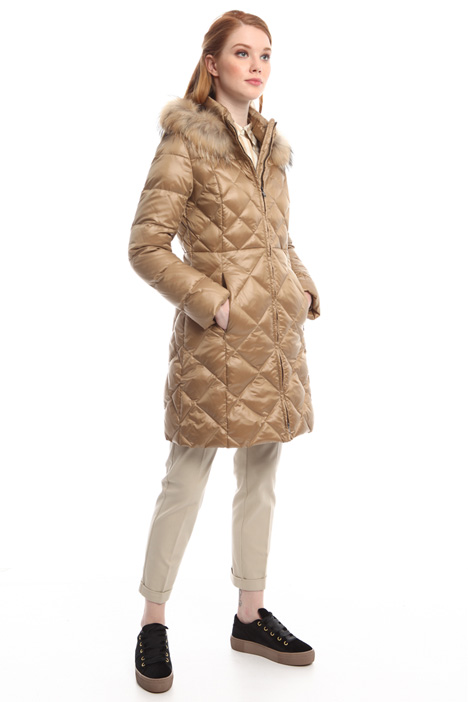 Down-coat with diamond pattern Diffusione Tessile