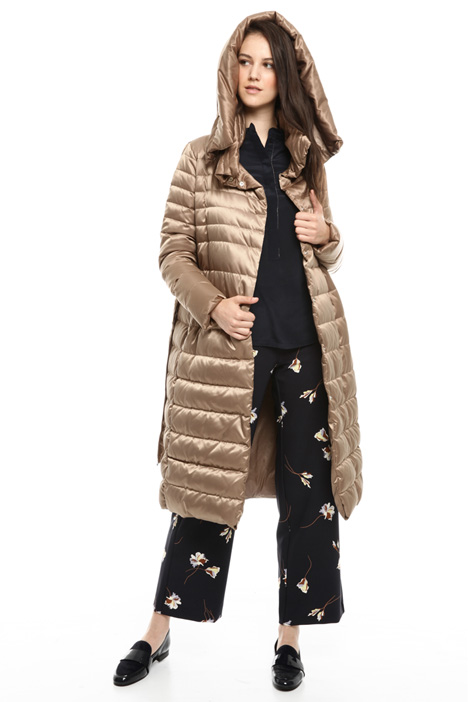 Oversized down coat in satin Diffusione Tessile