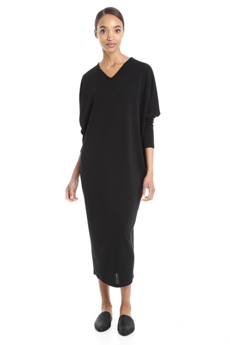 Oversized viscose crepe dress Diffusione Tessile