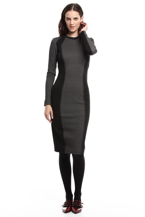 Slim-fit longuette dress Intrend