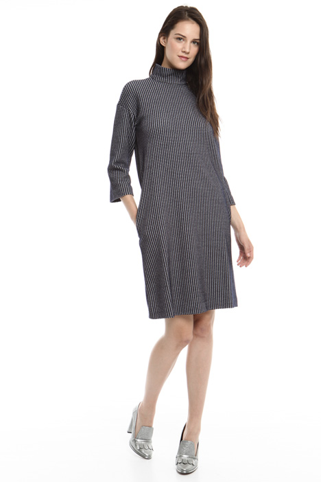 Egg-shape jacquard dress Intrend