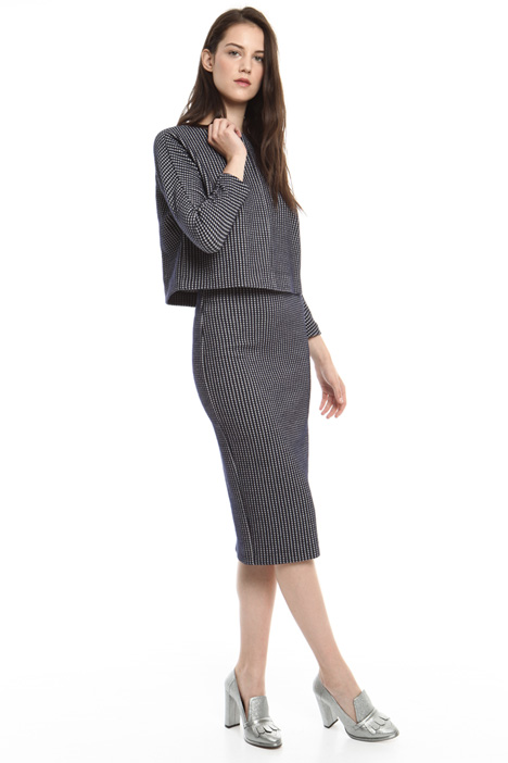 Jacquard jersey skirt suit Diffusione Tessile