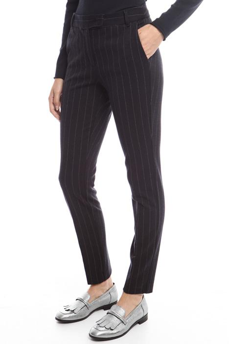 Pantalone in jersey gessato Diffusione Tessile