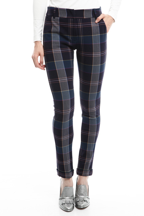 Slim fit patterned trousers Diffusione Tessile