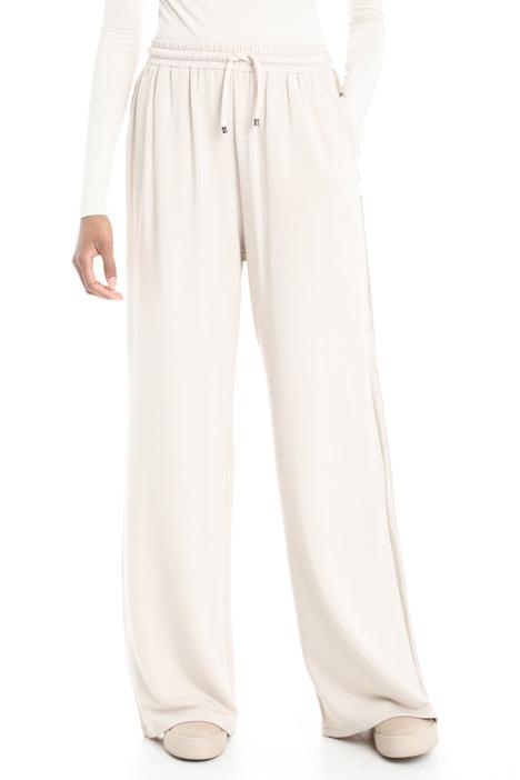 Pantaloni con inserti in raso Diffusione Tessile