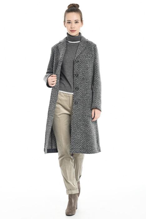 Chevron wool coat Diffusione Tessile