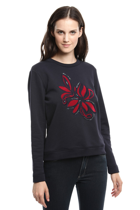 Embroidered sweatshirt Diffusione Tessile