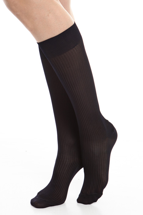 Ribbed viscose socks Diffusione Tessile
