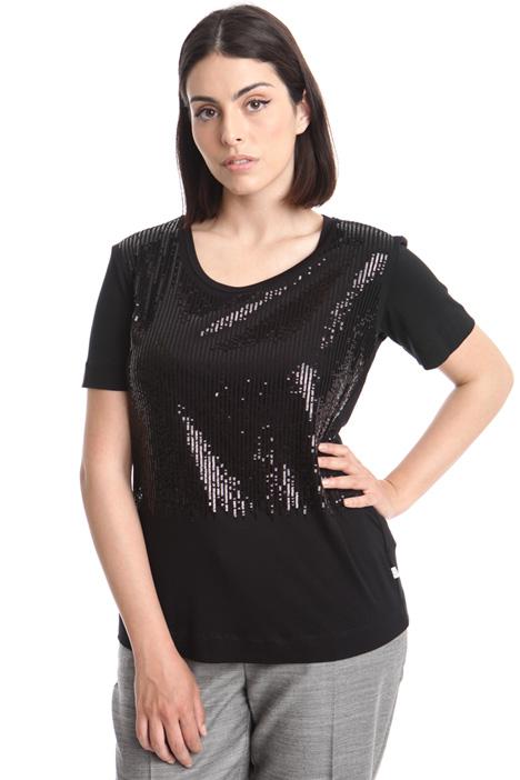 T-shirt con paillettes  Diffusione Tessile