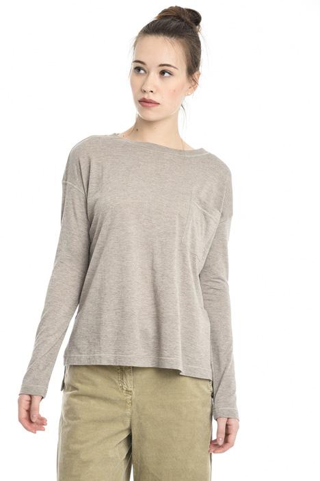 T-shirt in jersey con tasca Diffusione Tessile