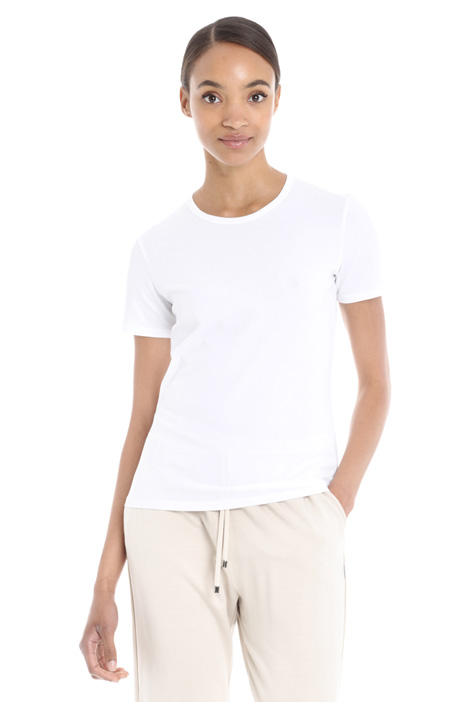 Stretch cotton T-shirt Diffusione Tessile