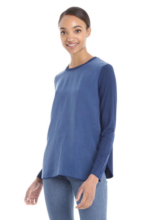 T-shirt in viscosa e seta Diffusione Tessile