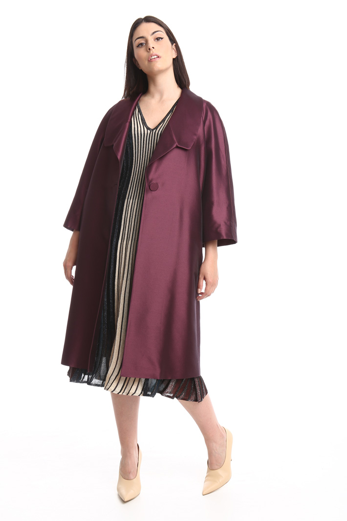Silk and wool duster coat Diffusione Tessile