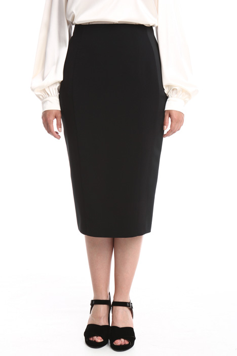 Satin pencil skirt Diffusione Tessile