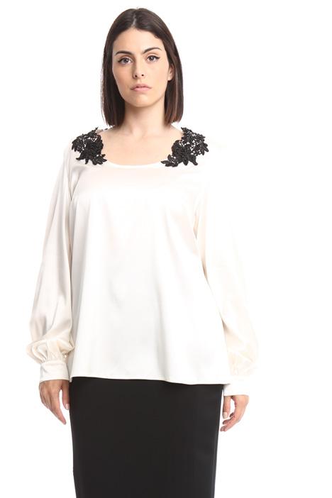 Blusa in raso di seta Diffusione Tessile